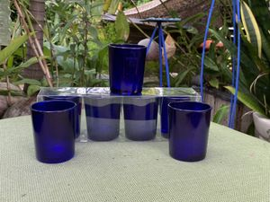 Beautiful Blue Glass Votive Candle Holders for Sale in Hollywood, FL