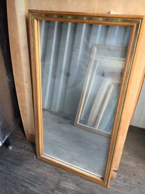 Wood mirror for Sale in Detroit, MI