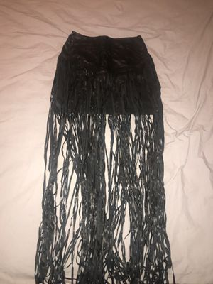 Faux leather fringe skirt for Sale in Miami, FL