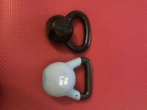 Kettle bell set (12LB / 15LB) for Sale in Oakton, VA