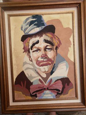Vinatge clown painting for Sale in Spanaway, WA