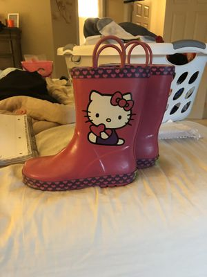 Hello kitty rain boots for Sale in Moon, PA