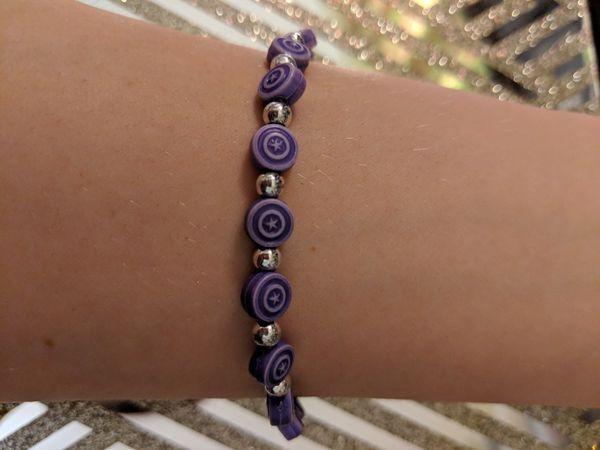 Purple Captain America Collectable Marvel Bracelet