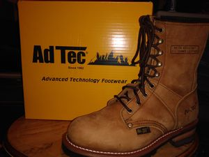 Ad tec work boots mens size 71/2 woman's 91/2 for Sale in Portland, OR