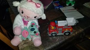 Lamby music plush and ryan fire truck for Sale in OR, US