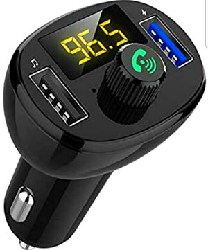 Bluetooth Car Adapter,Bluetooth FM Transmitter, 5V 3.1A Dual USB Ports Charger, Hands-Free Calling for Sale in Arlington, TX