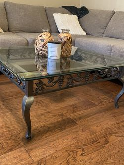 Arhaus Glass Top Coffee Table for Sale in Willoughby,  OH