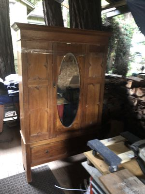 Antique Armoire with Beveled Mirror for Sale in Boulder Creek, CA