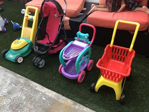 Kids Toy Stroller, Carts, and Lawn Mower for Sale in Honolulu, HI