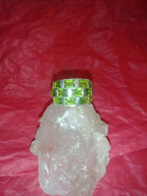 Beautiful Solid Silver W/Manchurian Peridot for Sale in Beaumont, TX