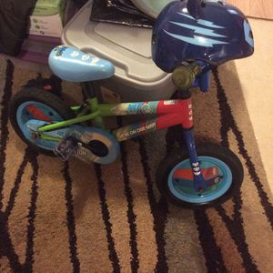 Pj Mask 12 Inch Bike With Cat boy Helmet for Sale in Vidalia, GA
