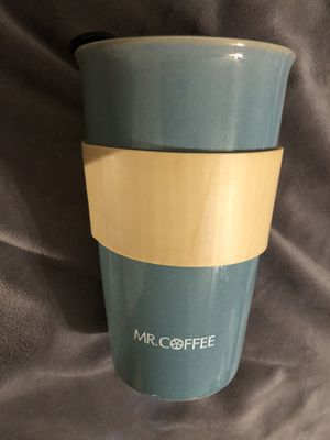 Mr coffee glass to go mug for Sale in Wilkes-Barre, PA