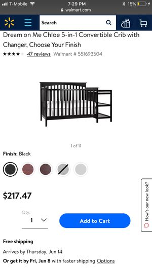 Dream me 5 in 1 crib with changing table , for Sale in San Diego, CA
