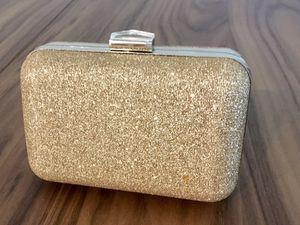 charming Charlies Gold Color Sparkling Clutch Evening Bag Shoulder - $10 for Sale in Lakewood, CO