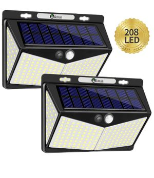 Solar Lights Outdoor 208 LED,Wireless Motion Sensor Lights with 270° Wide Angle IP65 Waterproof for Deck Fence Post Door Wall Yard and Garage, Yard, for Sale in Winter Garden, FL