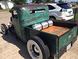 Gas tank vintage gasser hot rod spun aluminum with spinner cap T Bucket drag car street rod custom car fuel cell for Sale in NC, US
