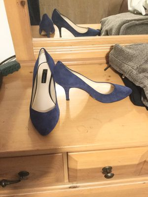 INC Blue Suede Heels for Sale in Leominster, MA