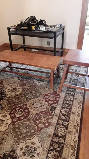 Coffee and side tables matching craftsman style for Sale in San Diego, CA