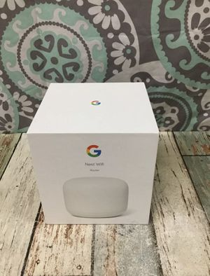 Google Nest WiFi Router (2nd Generation) – 4x4 AC2200 Mesh Wi-Fi Router with 2200 Sq Ft Coverage Open Box Never used. for Sale in Fresno, CA