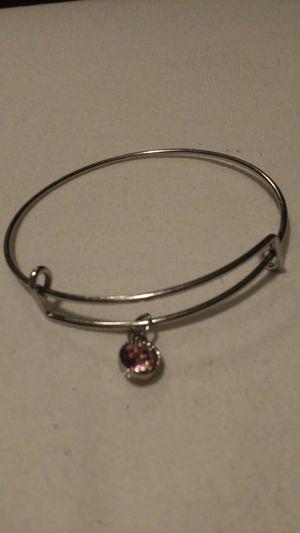 Pink rhinestone charm silver bracelet for Sale in Salt Lake City, UT