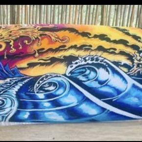 3ft Long Mini Hand painted surfboard for Sale in Virginia Beach, VA