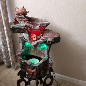 Beautiful water light indoor and outdoor fountain with stand for Sale in Stockton, CA