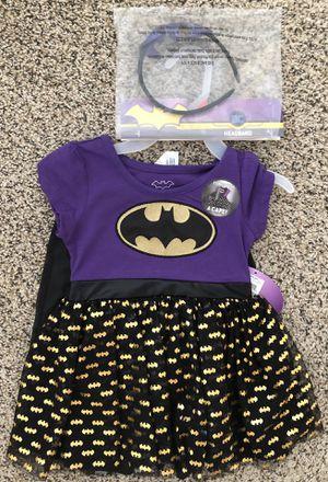2T Girls Halloween Costume Batman Batgirl Purple Dress Set New for Sale in Las Vegas, NV