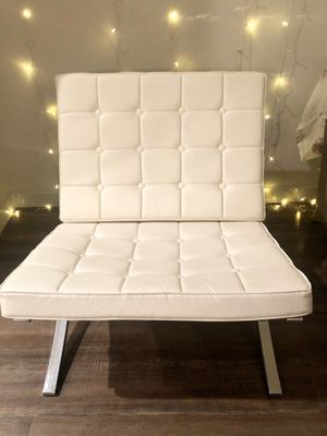 Modern White Leather like Accent Chair for Sale in Anaheim, CA