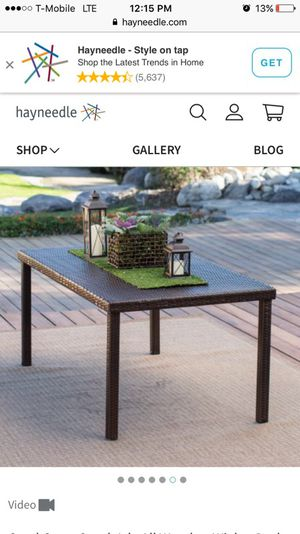 """Dark Brown (Brand New) Wicker Table (All weather) 63"""" for Sale for sale  Mount Vernon, NY"""