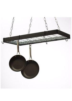 Hanging pot rack, Rogar black and chrome, brand new in box for Sale in Woodbridge, VA