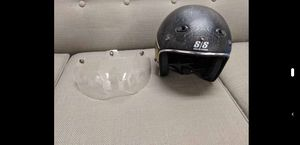 Motorcycle Helmet XL - Restomod SS600 BLACK/GOLD includes clear visor for Sale in Durham, NC