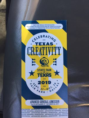 State Fair of Texas - One (1) Advanced General Admission Ticket for Sale in Dallas, TX