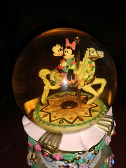 MICKEY AND MINNIE CAROUSEL WALTZ MUSICAL SNOWGLOBE for Sale in Jacksonville,  FL