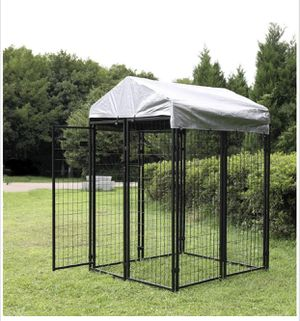 8x4x6 ft Heavy Duty Wire Outside Retriever Dog Kennel Fence with Cover for Sale in La Mirada, CA