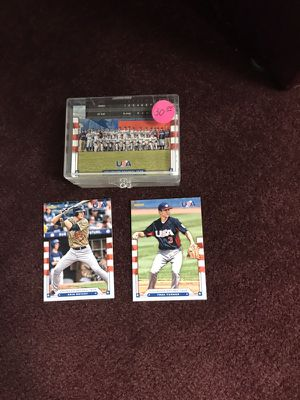 2015 US Olympic Baseball Card Set! Contains First Cards of 2016 MLB WS MVP Kris Bryant (Chicago Cubs) & Trea Turner (Washington Nationals) for Sale in Fairfax, VA