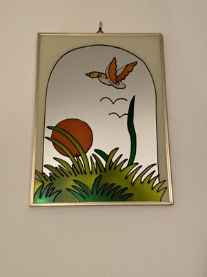 Vintage Meadows Wall Mirror in Gold Metal Frame, Medium for Sale in Bellevue, WA