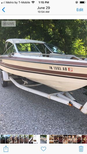 Have title to boat. Runs grate. Need steering cable for Sale in Plainfield, IN