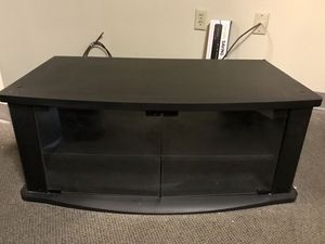 Black TV stand with storage for Sale in Seattle, WA