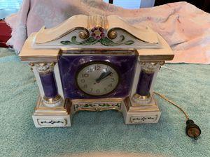 American Beauti-lamp Porcelain Mantle Clock Vintage for Sale in Zephyrhills, FL