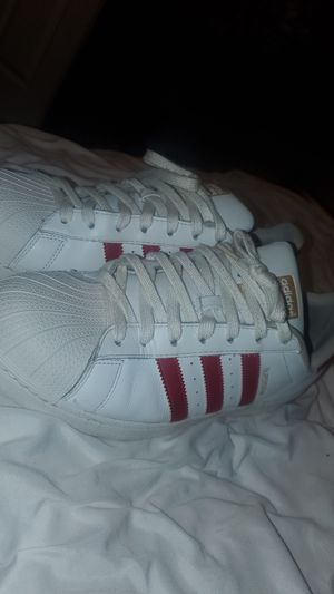 Adidas red and gold superstars for Sale in Brandon, MS