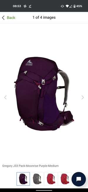 Gregory j33 women's backpack for Sale in San Diego, CA