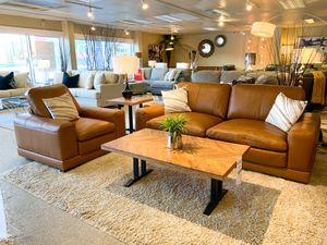 Genuine Leather Sofa & Chairs + FREE Curbside Delivery 🚚 for Sale in Everett, WA