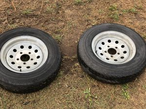 13 inch galvanized trailer wheels with 8 ply tires for Sale in Tacoma, WA