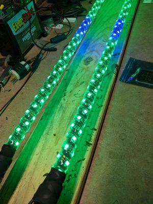 Lighted 4' whips digital rgb led with blinker and stop light feature.( Can am canam x3 polaris rzr atv utv yamaha suzuki honda ) for Sale in ELEVEN MILE, AZ