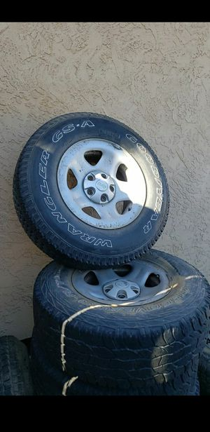 Jeep rims and tires for Sale in Lakeside, CA