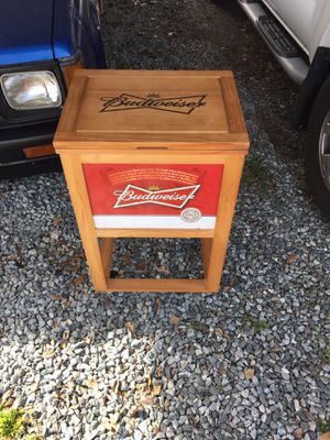 Budweiser cooler it's got wheels on it 75 obo for Sale in Greensboro, NC