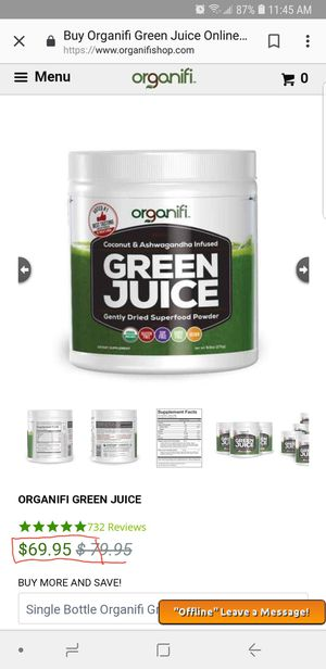 Organifi Green juice for Sale in Westerville, OH