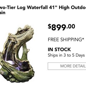 Log Style Fountain With Led Light for Sale in Bell Gardens, CA