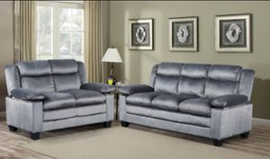 Brand New Grey Microfiber Sofa + Love Seat for Sale in Silver Spring, MD