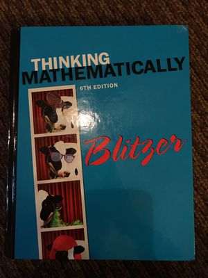 Thinking Mathematically 6th Edition for Sale in Mary Esther, FL